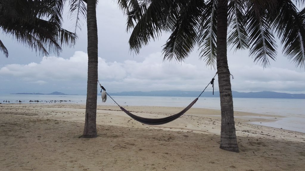 A lonely hammock on Koh Phangan