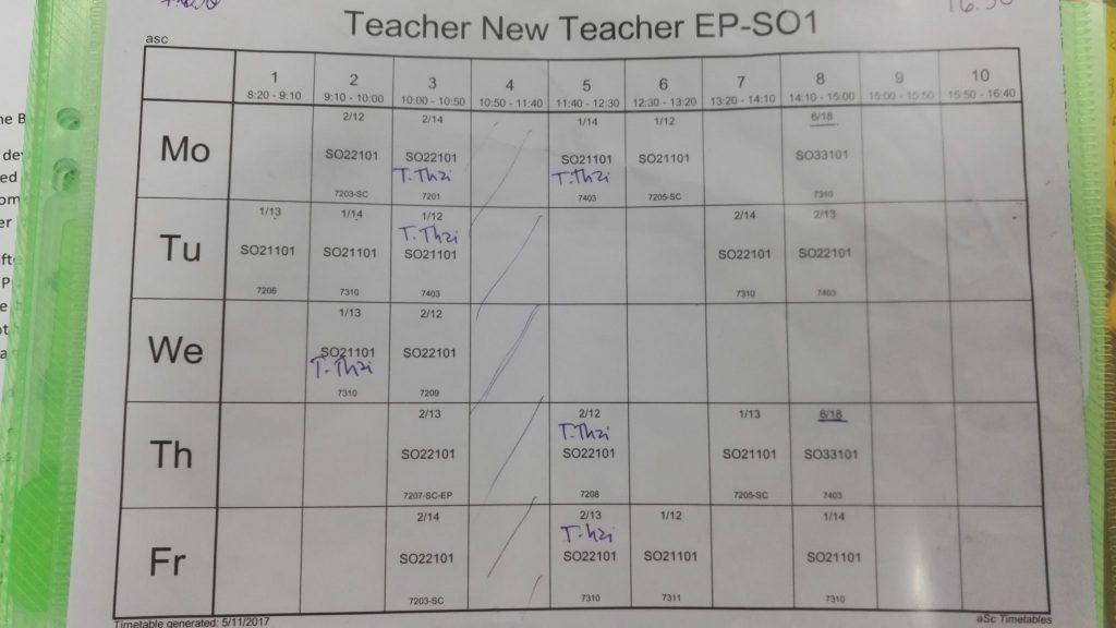 Teaching hours